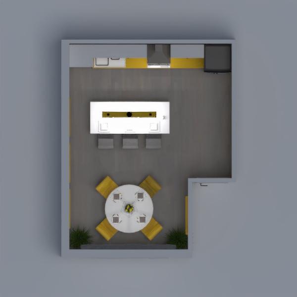 Para esta ronda, el diseño consiste en crear una cocina-comedor en un área de 19.4 mts2 y que el color predominante sea el amarillo. Por ende decidimos llevar a cabo un diseño en donde el amarillo fuese el punto focal de la habitación, presentándola en los detalles para que de esta manera sea sutil, elegante y agradable a la vista.