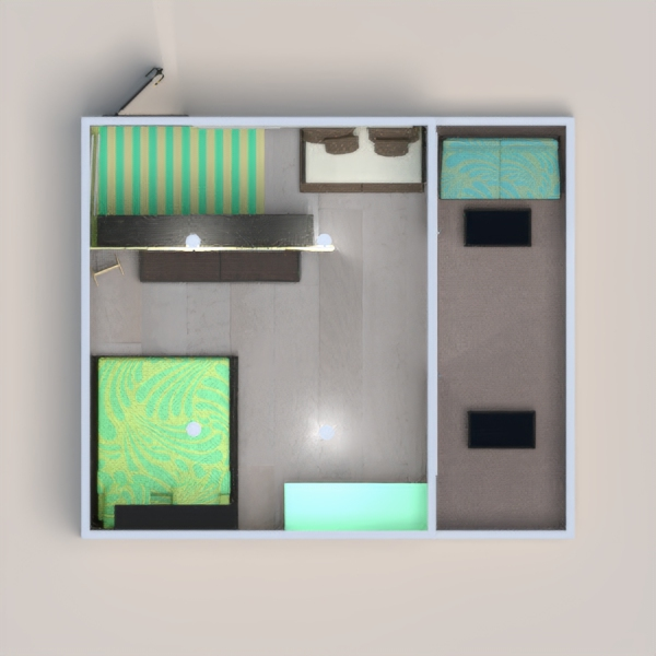 Hi! Today I made a house with teal, black, and yellow! I really do like it and hope you do too! made the wallpaper have leaves on it because it reminded me of nature and we were supposed to do something tropical, so I thought it would match! Hope you enjoy it! Feel free to vote!