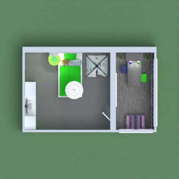 i don't know how I feel about this one. I like it, but I'm not sure what ya'll think about the color scheme. So comment what you think. But in the balcony I invisioned A play room, With the two seated coloring desk and painting area. I'm saying this is a unisex room because I know every person has there own taste. I know I would've loved this room in my childhood instead of a pink girly room. so please like if you do, and enjoy :)