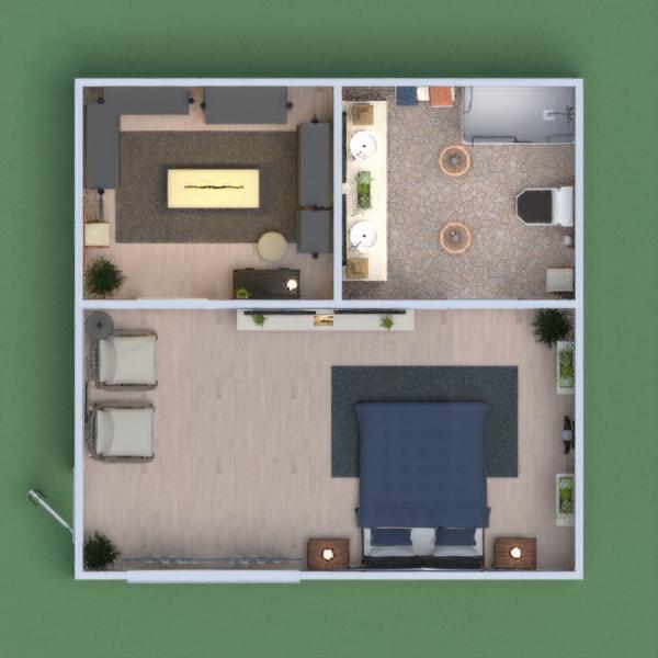 Dormitorio con gran ampliación y buena decoración.
