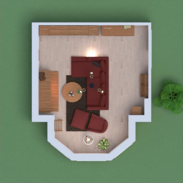 A wooden livingroom