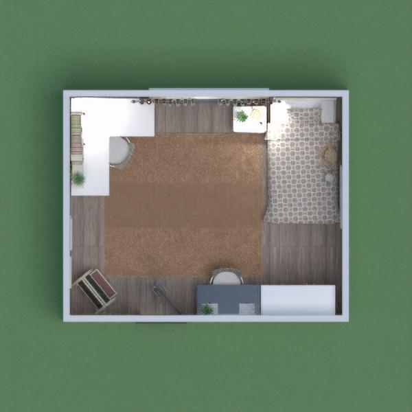 Pembe tonlarını kullandım. bol depolama alanı geniş bir çalışma masası olan bir kız çocuğu yatak odası.