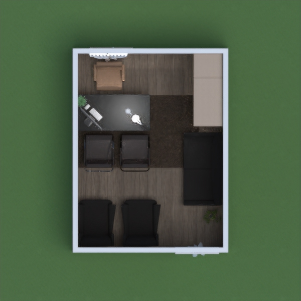 My project is of an office that should be in a house (which is the reason there are curtains on the door). It will probably be a consulting office (the chair in front of the desk). I put wallpaper in so it gives a sort of homey feeling that I like.