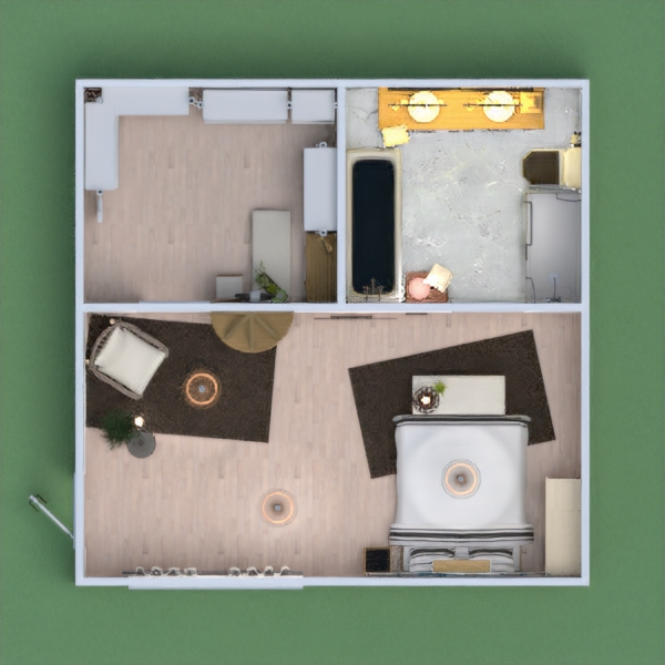 A Bo-Ho inspired bedroom, with an on suite, and walk in closet.