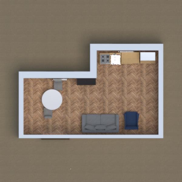 soggiorno molto ampio con angolo cottura e sala da pranzo