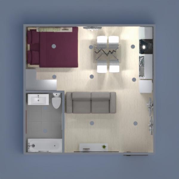 Es un apartamento blanco