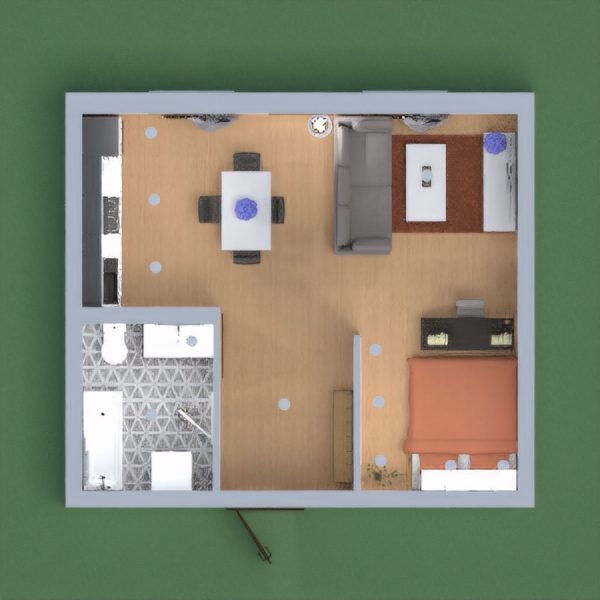 This is my small apartment! I hope you like it! Please let me know what you think of it! (And be honest) I would really appreciate it if you would vote for me! But only if you really like my design! Thanks!