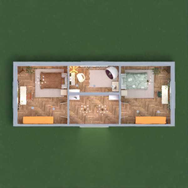 Thank you for the votes on a previous design :) This is my design for two sisters, one green and one yellow room. Hope you like it. I would appreciate your honest opinions in the comments so that I could improve! Good luck :)