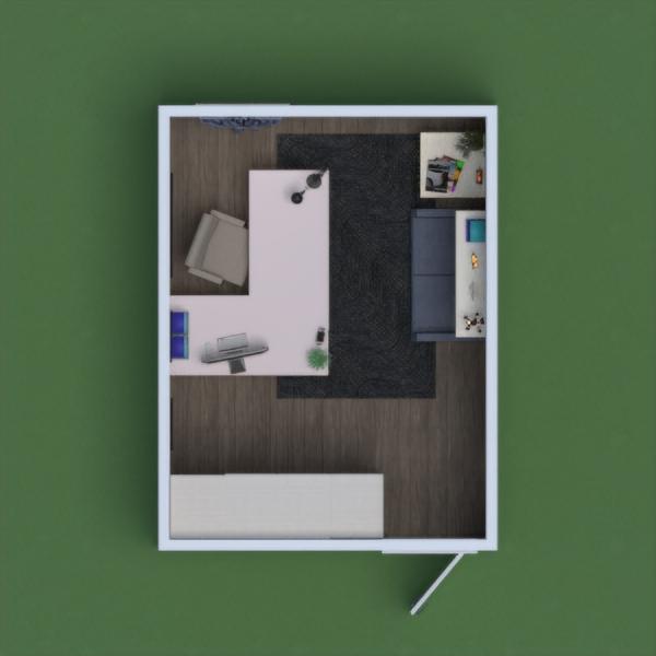 Estetik bir çalışma odası oldu. Çoğunlukla mavi tonları kullanıldı. Dinlenme alanı, geniş çalışma masası ve bolca depolama alanı ile ferah bir tasarım ortaya çıktı.