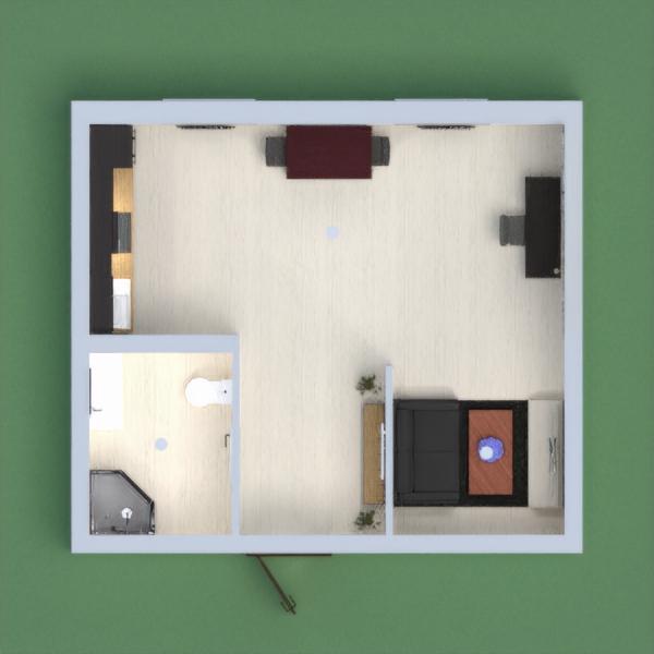 Es un departamento donde puedes estar unas horas muy cómodo contiene un baño completo, una cocineta, comedor, una área para trabajar y una sala que contiene un diseño muy innovador también podemos encontrar una pintura y ciertas plantas que adornan al departamento.