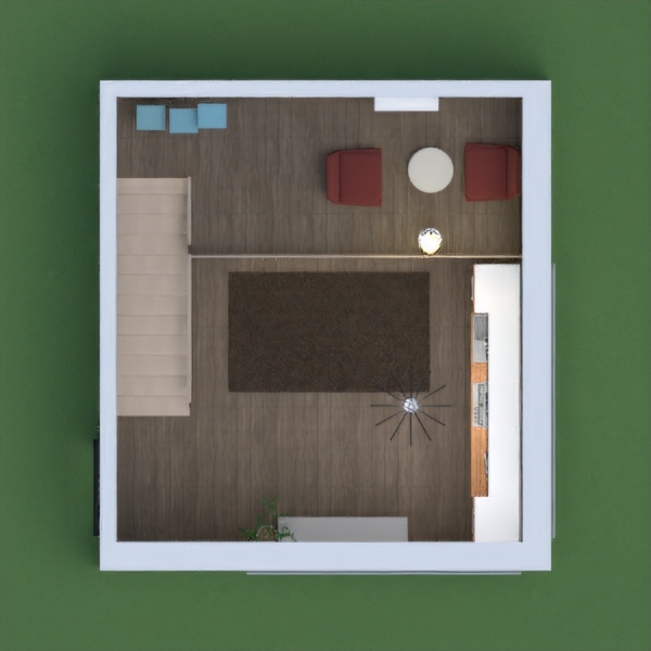 A tiny home for one or two people.It has two storys.It has a kitchen,a dining room,a living room,storage,and a sitting place/resting after a long day.Hope you like it.