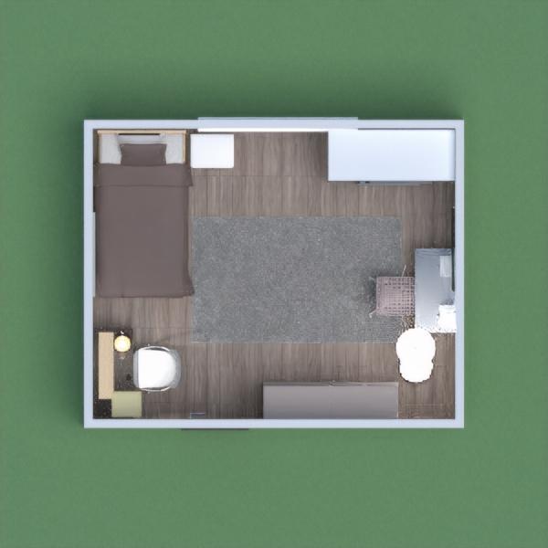 It's a modern bedroom
