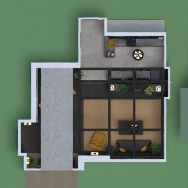 Monika loves an open space with the kitchen is separated from the living room. She loves cooking and hanging with her Friends :) Everything needs to be organized, clean and a cozy touch.