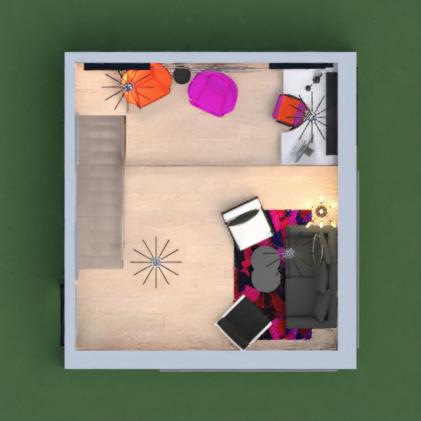 Hi! It's Izzy! I made a colorful\modern house! I made it black and white with accents of neon orange and neon pink! Also, today is my birthday and pink and orange reminded me of birthday colors! I really hope you like it because it took me about an hour. Feel free to comment! Thanks! -Izzy Moonlight