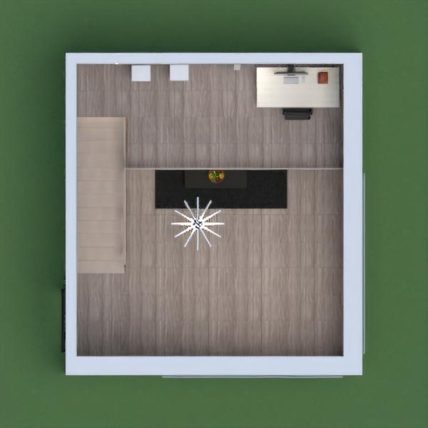 Questo è un piccolo soggiorno con un piano superiore in cui si trova uno studio.