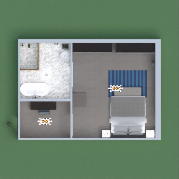 A basic room for two couples
