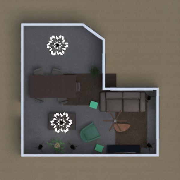 sala de está e mesa de jantar