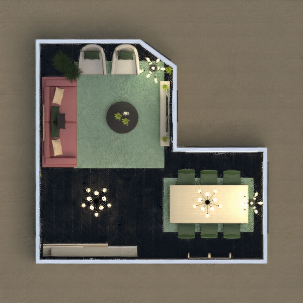 Espaços bem aproveitados, decoração em verde e um sofá em destaque. Espero que gostem.  Vote....
