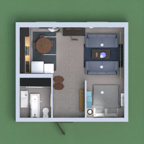 This is a mini apartment,It has a sitting area,kitchen and more household items. you will love it.The colours and textures match!