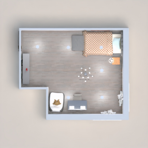 This is a children's bedroom designed for a girl. Also is meant to be simple and easy. In this design detail is not focused on much. Enjoy the design!