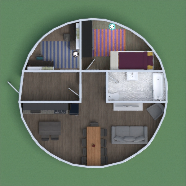 I designed this house for two people. I hope you like it!