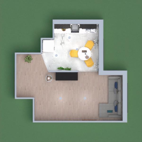 un piccolo salotto e una cucina