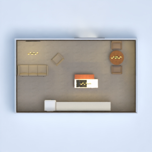 This is a dark and modern living/kitchen. It is very comfy and has a soft tint. I hope you like it!