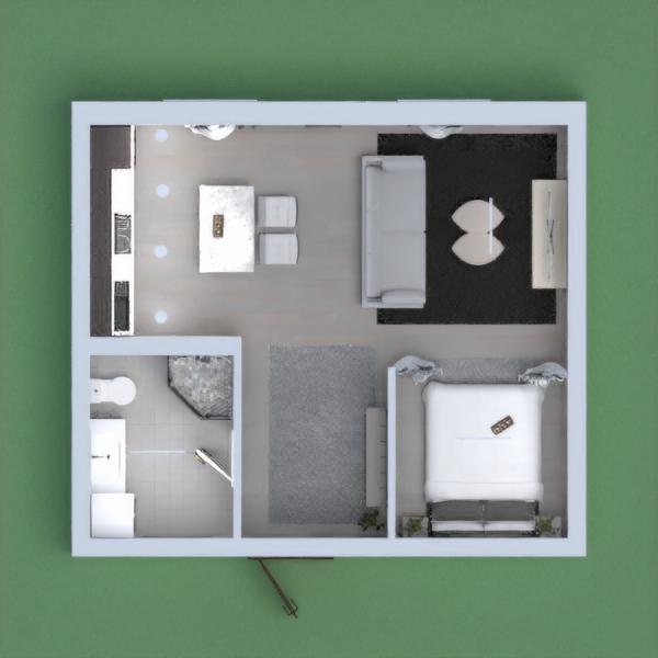 Modern studio apartment.