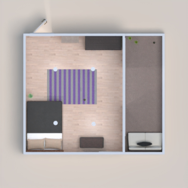 it a double bed bedroom with a closet and  have a little bit of items