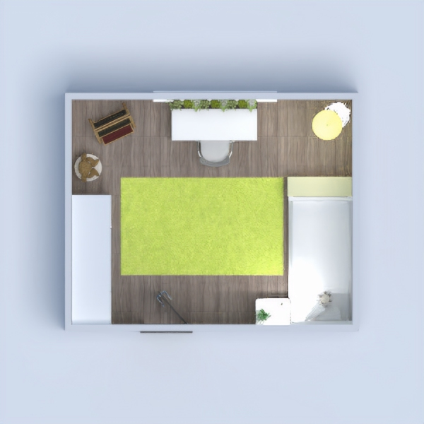 this is a yellow bedroom, great for younger and older children! :)