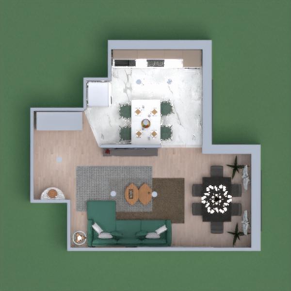 Casa em verde e branca