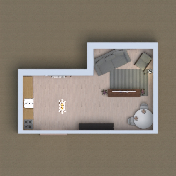 Living room/kitchen/Dinner room :)