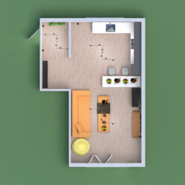 it is a living room with a kitchen,it has every thing a kitchen and livingroom should have hope you like it plz vote for me