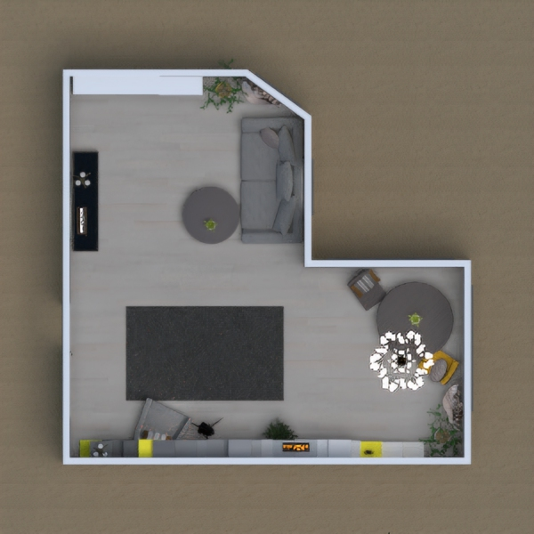 Hello everybody! This is my first 3D desing. I am glad to show you this room in style of
