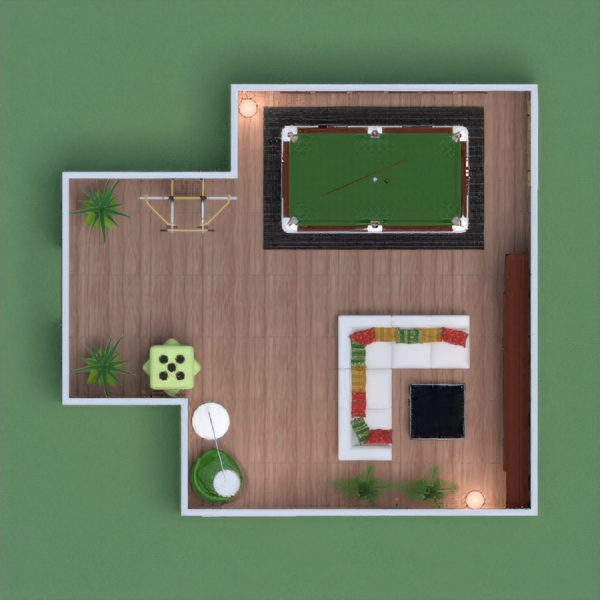 fully equipped games room but also a cozy place for family to relax