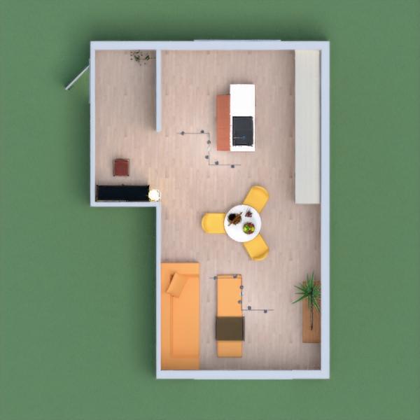 good kitchen-living room.