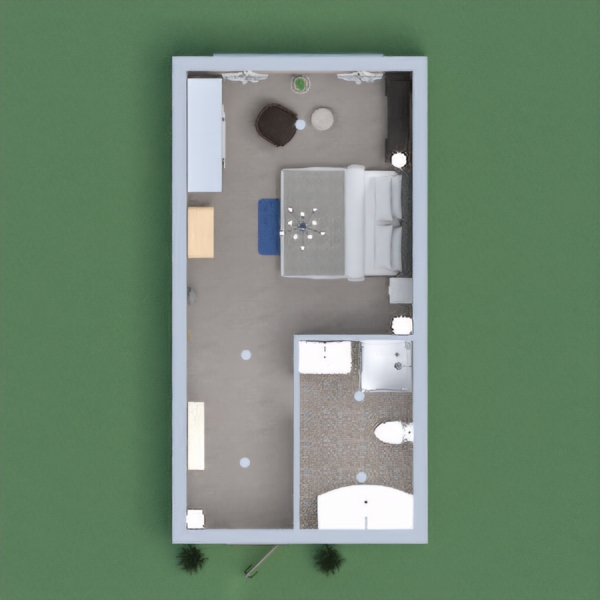 There I made a sweet modern house. In this home, there is a single Bedroom and a Bathroom. The colour theme is like a modern house. All things are stylish and beautiful. If you like my design please Like it. I will thankful to you.