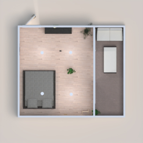 a modern day bedroom with balcony 2nd time on planner 5d please vote me