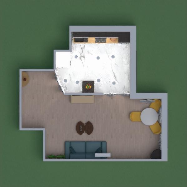 кухня мини с гостинной