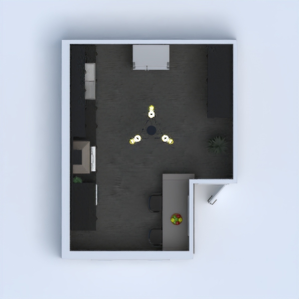 It's a yellow modern kitchen. Please like below! Thanks!!