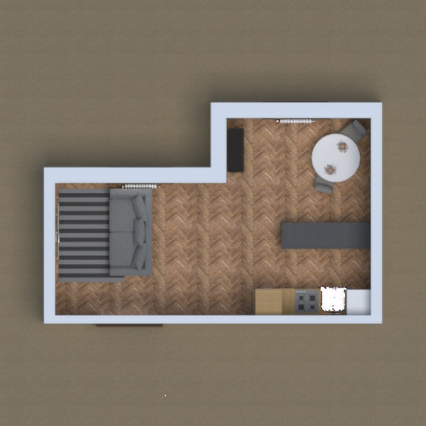 My project is a kitchen with a lounge added onto it (like everyone else's)