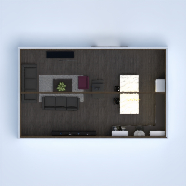 this is a modern kitchen and living room the with a double modern fire. I hope you like it.