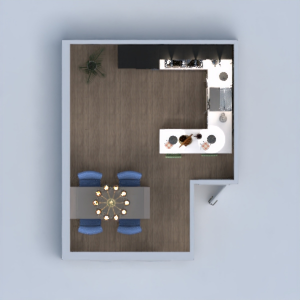 My Project is The image of an advanced Kitchen with all of the accessories that are needed.