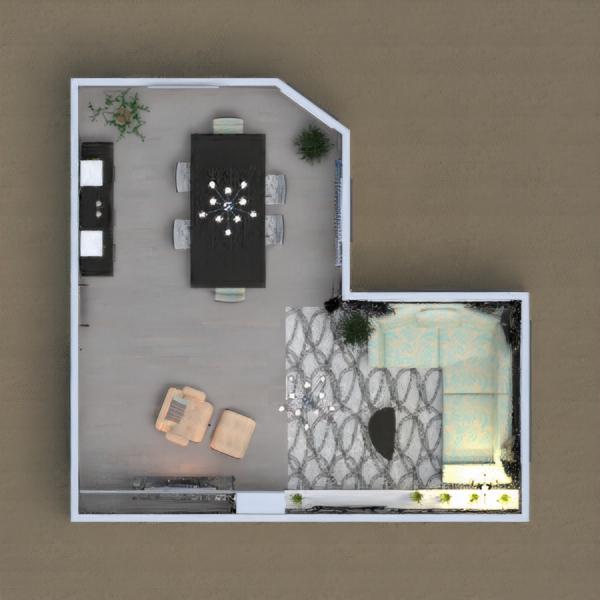 MODERN LIVING-DINING ROOM