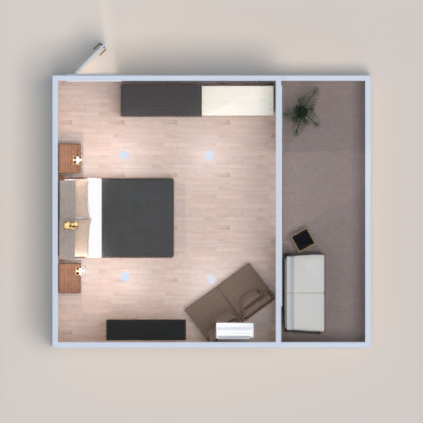 un cuarto con terraza perfecto para vivir tu día día.