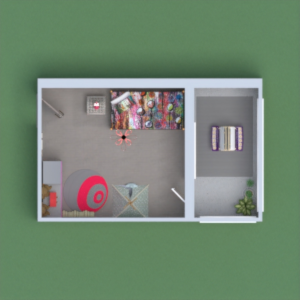 My project is representing a kid like room and patio. With playful colors for kids to enjoy! Hope you like it! <3