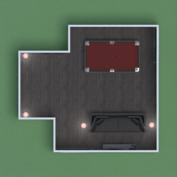 Esta es una sala e juegos que incluye una mesa de billar, dardos, y una consola de  video juegos. Esta sala tiene colores oscuros para obtener elegancia.