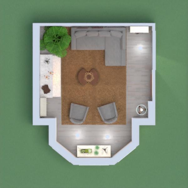 Sala de estar com tons neutros e claros na maior parte do espaço, para ampliação. Chão e detalhe da parece em madeira, para ambiente com maior sensação de aquecido e lareira mais parece revestidas em mármore.