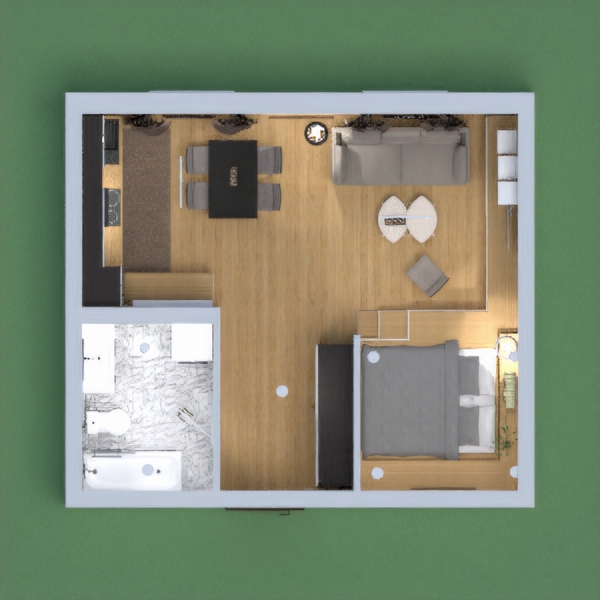 Hi guys! I wasn't able to join last two weeks challenge cause i got a problem with my internet connection. Thankfully it was already fixed. Anyways here's my design for todays challenge. Its a studio type apartment with modern wallpapers. Its a little mess on the top view so don't mind that. hihi Hope you like it :)