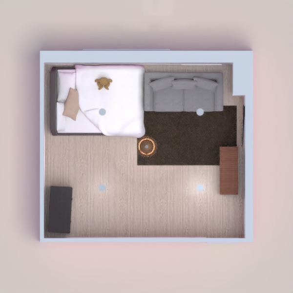 In this project I made a bedroom with space and most important it is very cozy and comfortable